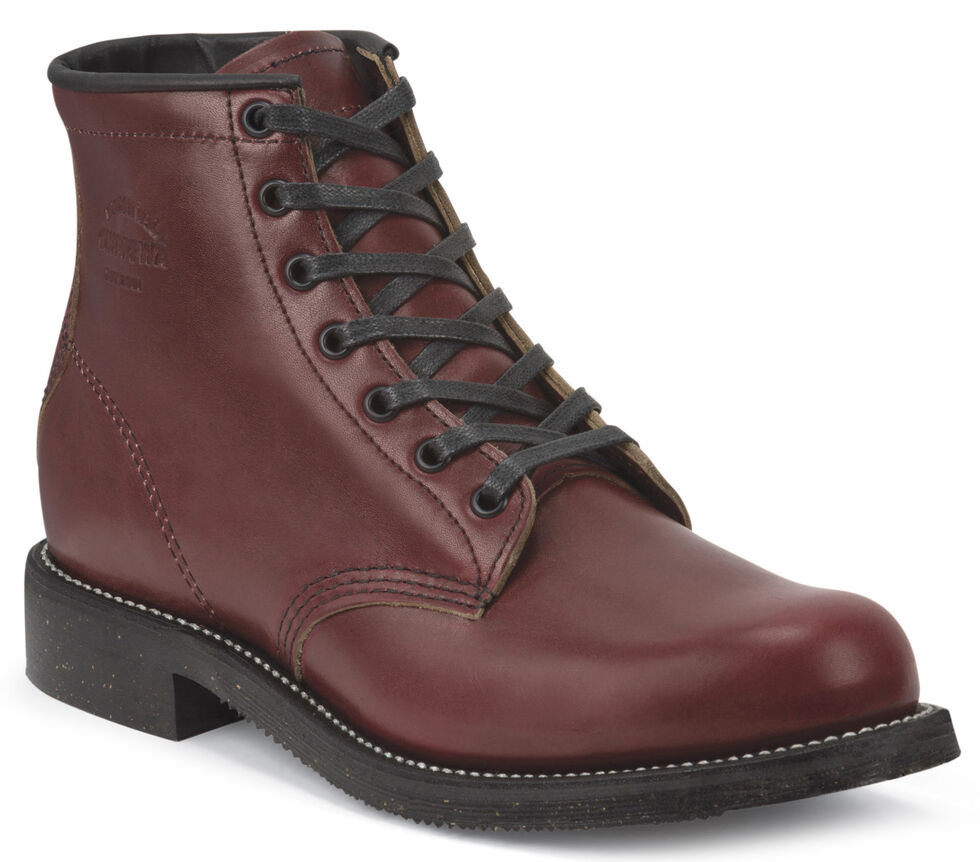 "Chippewa Men's Limited Edition 6"" Lace-Up Oxblood Service Boots - Round Toe, Mahogany, hi-res"