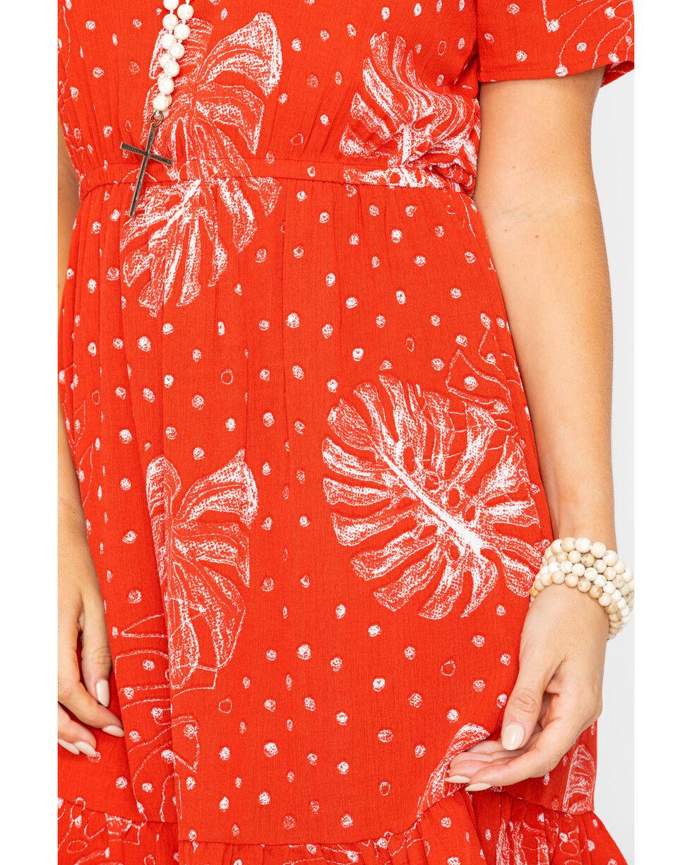 Sadie and Sage Women's Wrap Skirt Mini Dress  , Red, hi-res