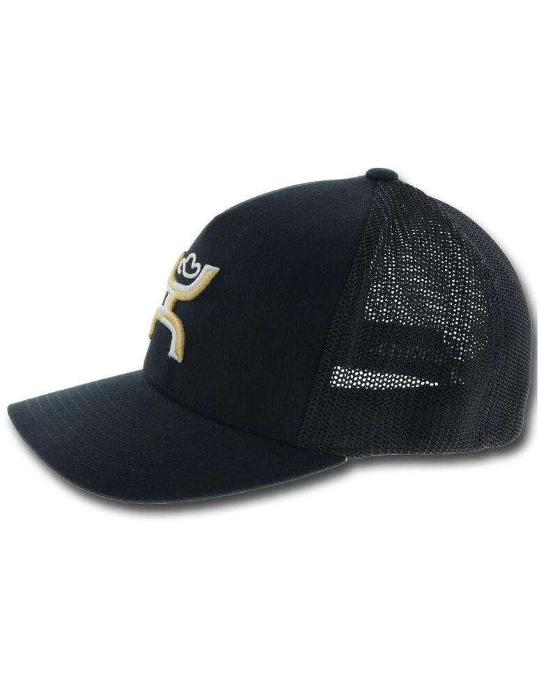 Hooey Men's Black Coach Flex Fit Mesh Cap , Black, hi-res