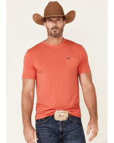 HOOey Men's Solid Premium Bamboo Short Sleeve Pocket T-Shirt , Pink, hi-res