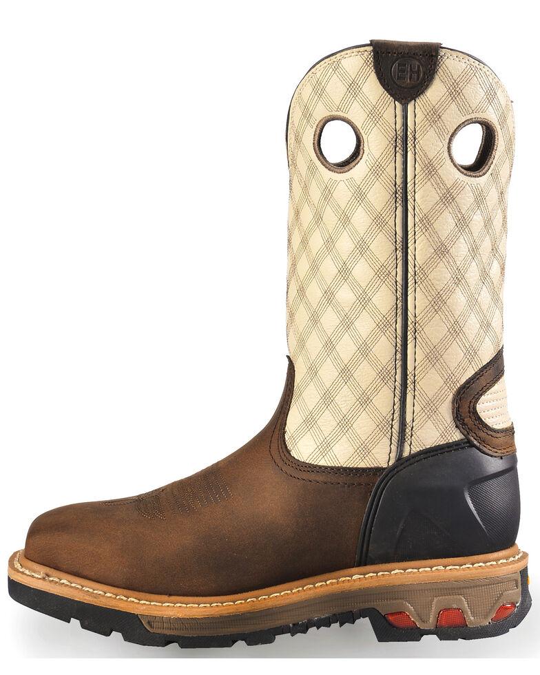 Justin Men's Roughneck Electrical Hazard Work Boots - Steel Toe, Tan, hi-res