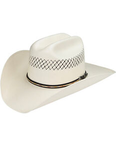 Master Hatters Men's Air Scottsdale 20X Straw Vented Cowboy Hat, Natural, hi-res