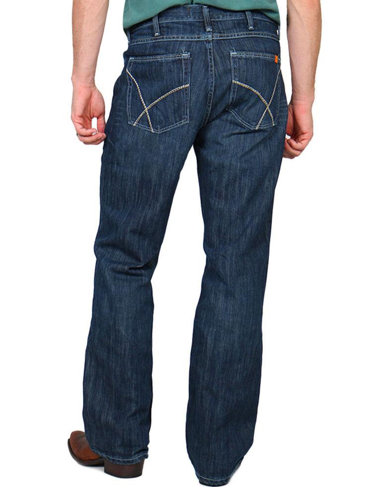 Wrangler 20X Men's 42 Vintage Bootcut Fire-Resistant Work Jeans, Denim, hi-res