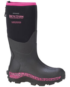 Dryshod Women's Pink Arctic Storm Winter Work Boots, Black, hi-res