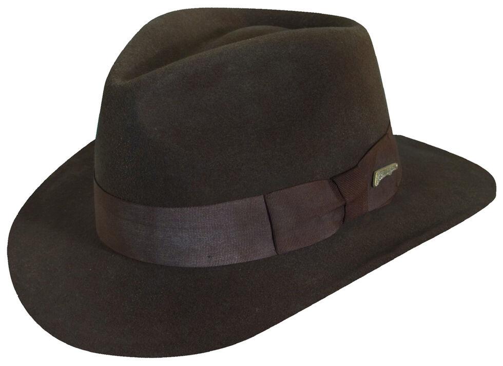 Indiana Jones Men s Brown Wool Felt Fedora Hat - Country Outfitter 3e12d16e4a8