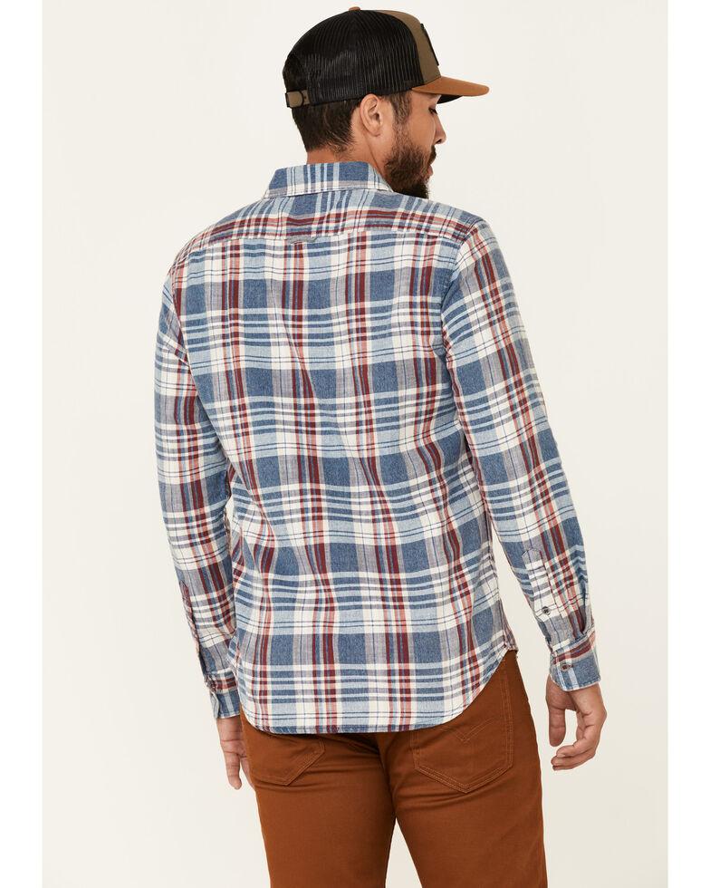 Flag & Anthem Men's Valinda Large Plaid Long Sleeve Button-Down Western Shirt , Red, hi-res