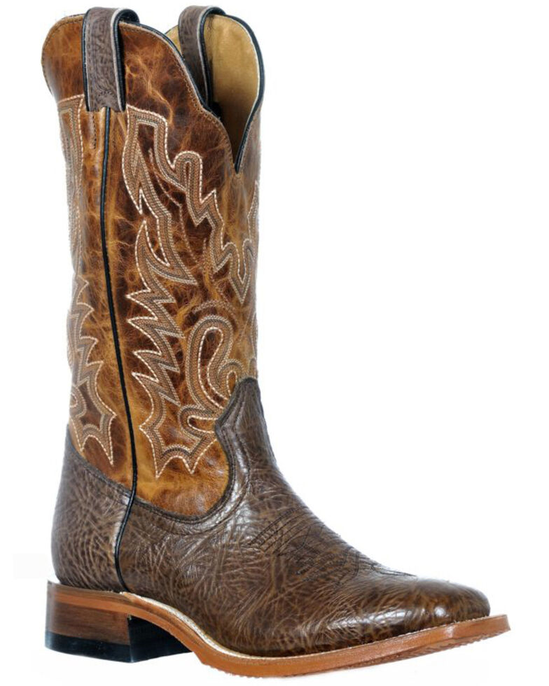 Boulet Women's Taurus Western Boots - Wide Square Toe, Cognac, hi-res