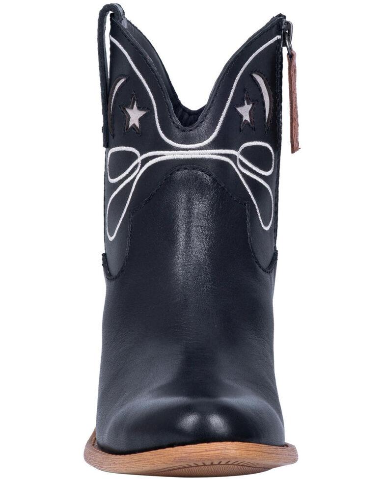 Dingo Women's Black Urban Cowgirl Western Booties - Round Toe, Black, hi-res