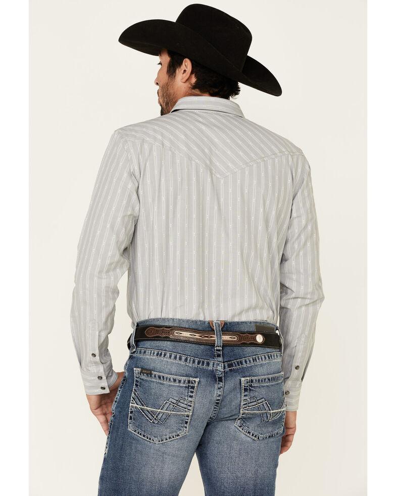 Cody James Men's Grey Rebel Striped Long Sleeve Western Shirt , Medium Grey, hi-res