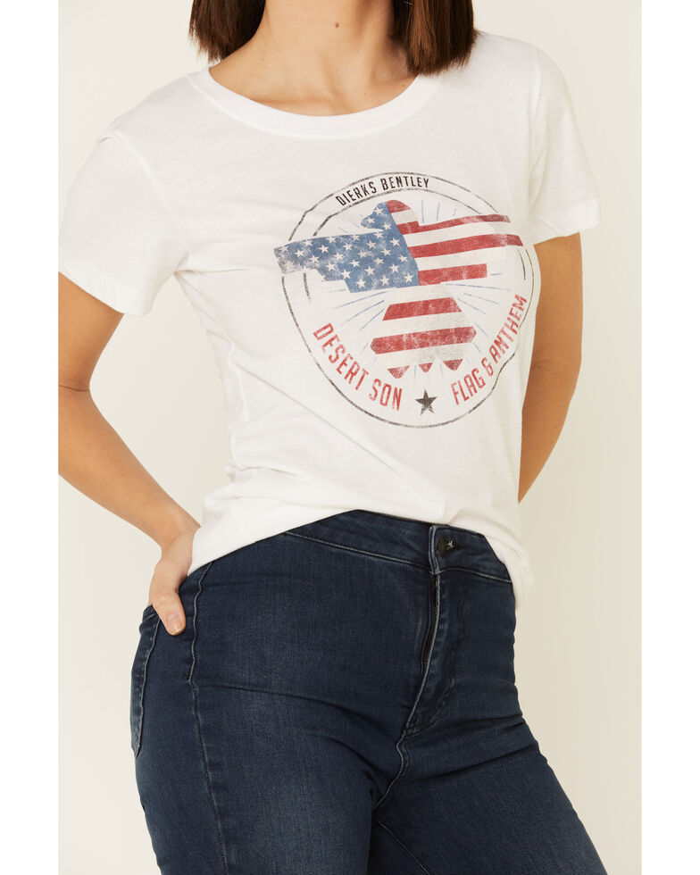 Flag & Anthem Women's White Freedom Riser Graphic Tee, White, hi-res