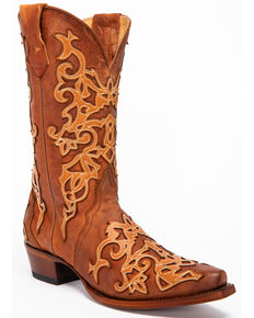 Shyanne Women's Olivia Overlay Western Boots - Snip Toe, Brown, hi-res