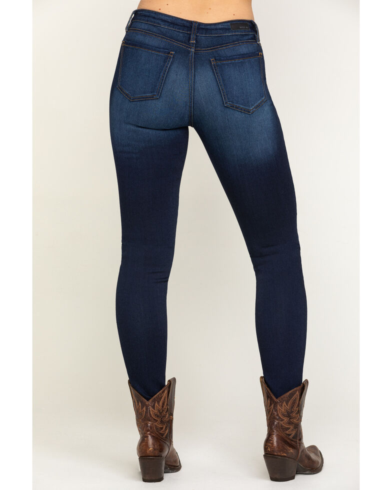 Miss Me Women's Basic Dark Wash Skinny Jeans, Blue, hi-res