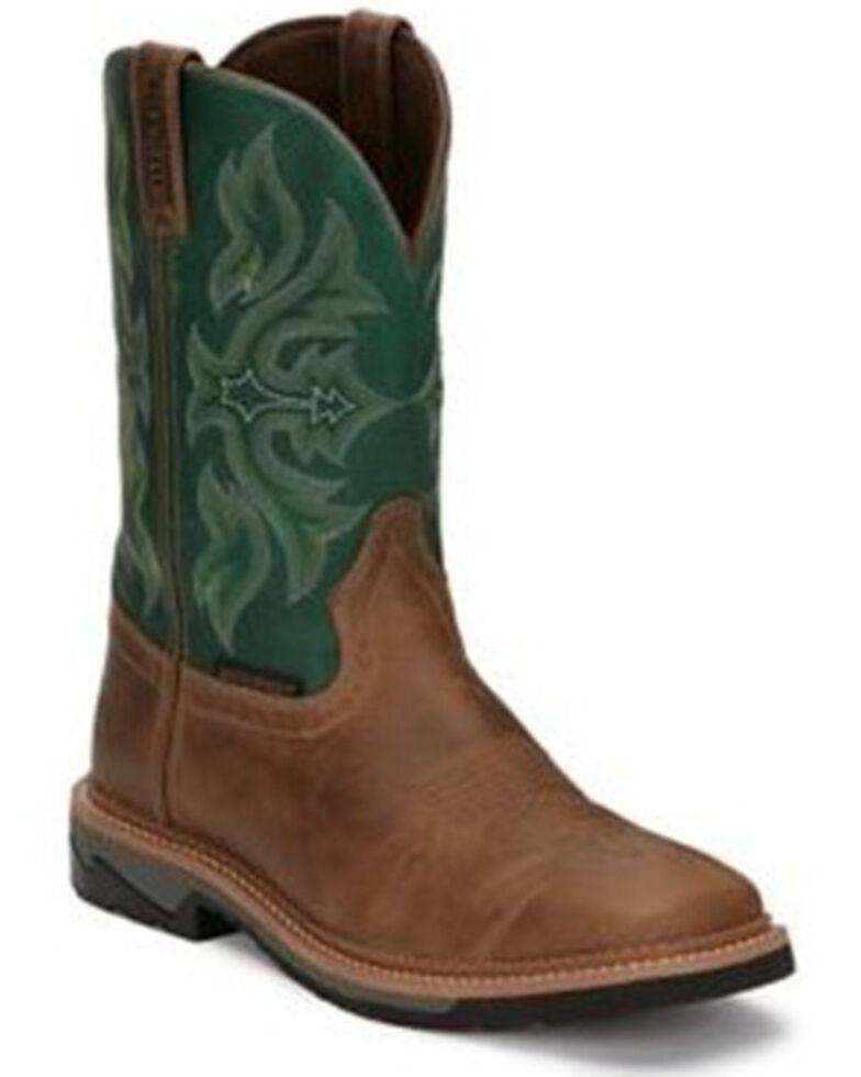 Justin Men's Tan Bolt Western Work Boots - Soft Toe, Tan, hi-res