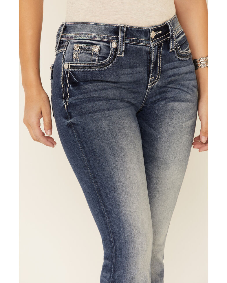 Miss Me Women's Modern Love Bootcut Jeans, Blue, hi-res