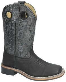 Smoky Mountain Duke Western Boots - Square Toe, Black, hi-res