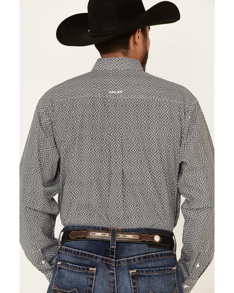 Ariat Men's Hiram Geo Print Long Sleeve Western Shirt , Black, hi-res