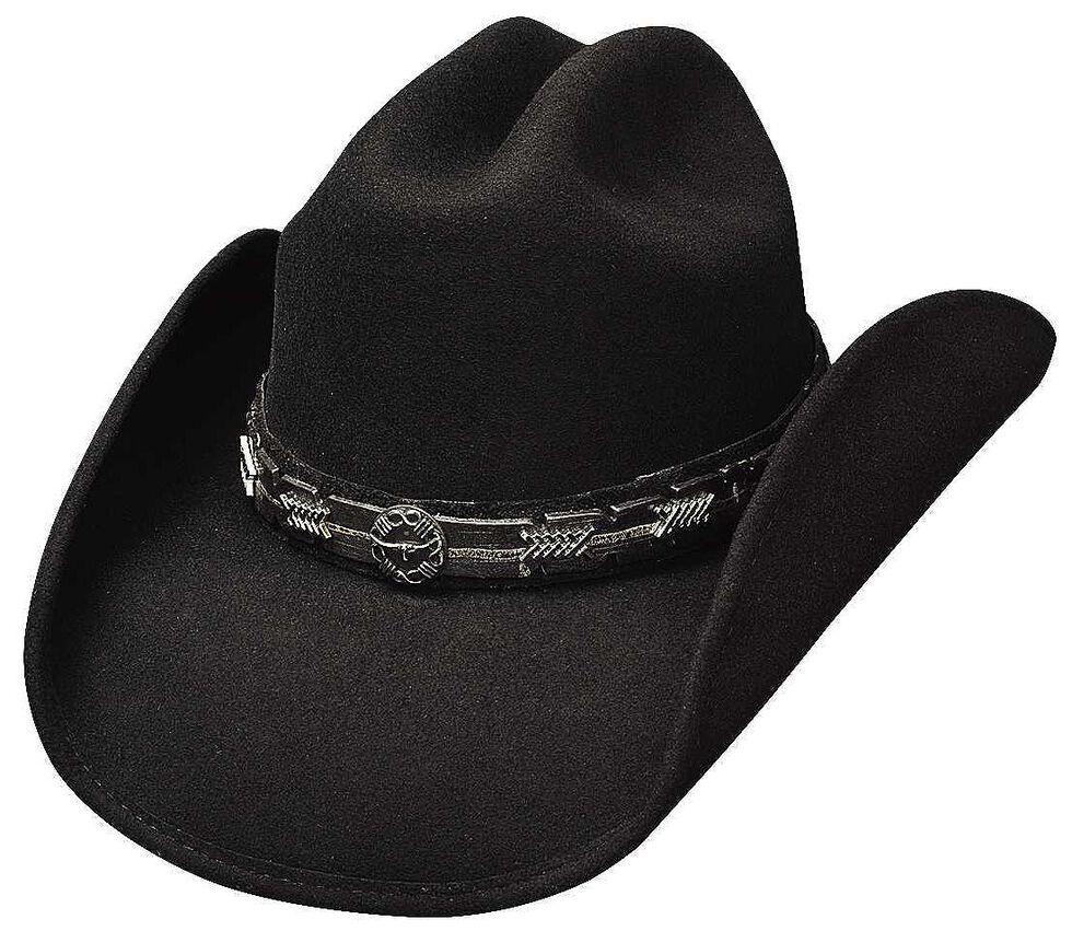 Bullhide PassThe Buck Wool Cowboy Hat, Black, hi-res