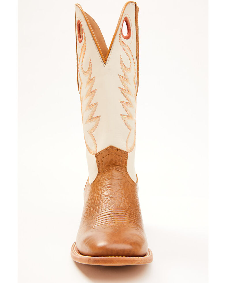 Cody James Men's Union Bone Western Boots - Wide Square Toe, Cream, hi-res