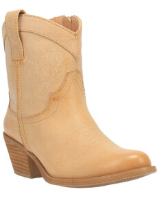 Code West Women's WooWoo Fashion Booties - Round Toe, Natural, hi-res