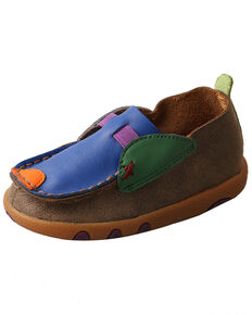 Twisted X Infant Boys' Bomber Driving Shoes - Moc Toe, Multi, hi-res