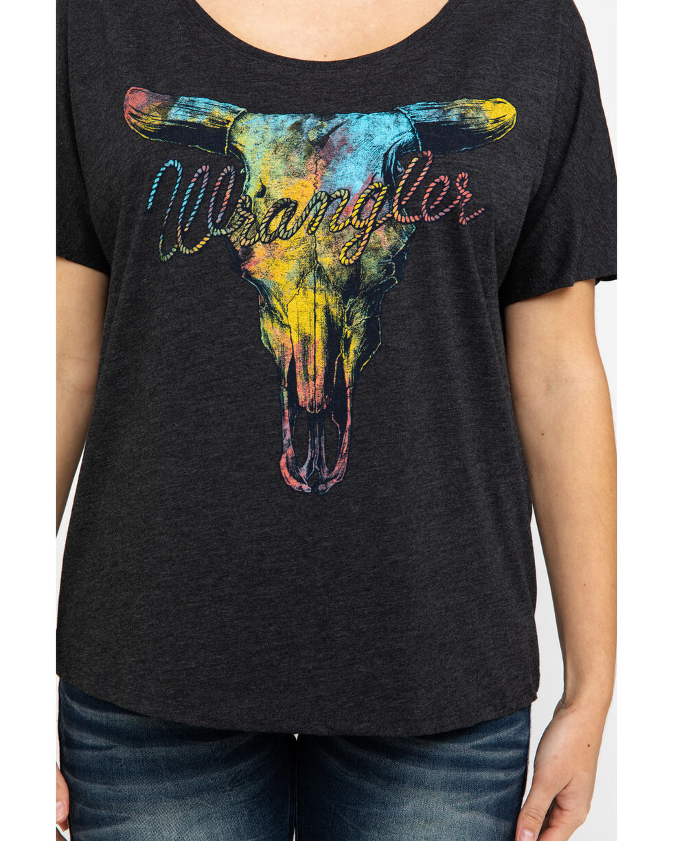 Wrangler Women's Steer Head Graphic Tee , Black, hi-res