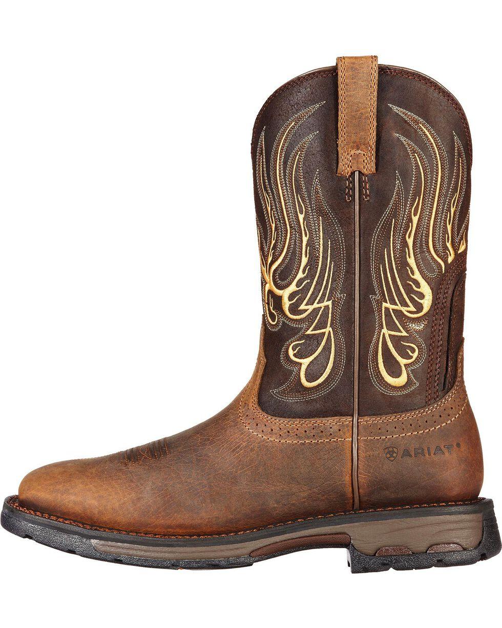 Ariat Workhog Mesteno Work Boots - Square Toe, Earth, hi-res
