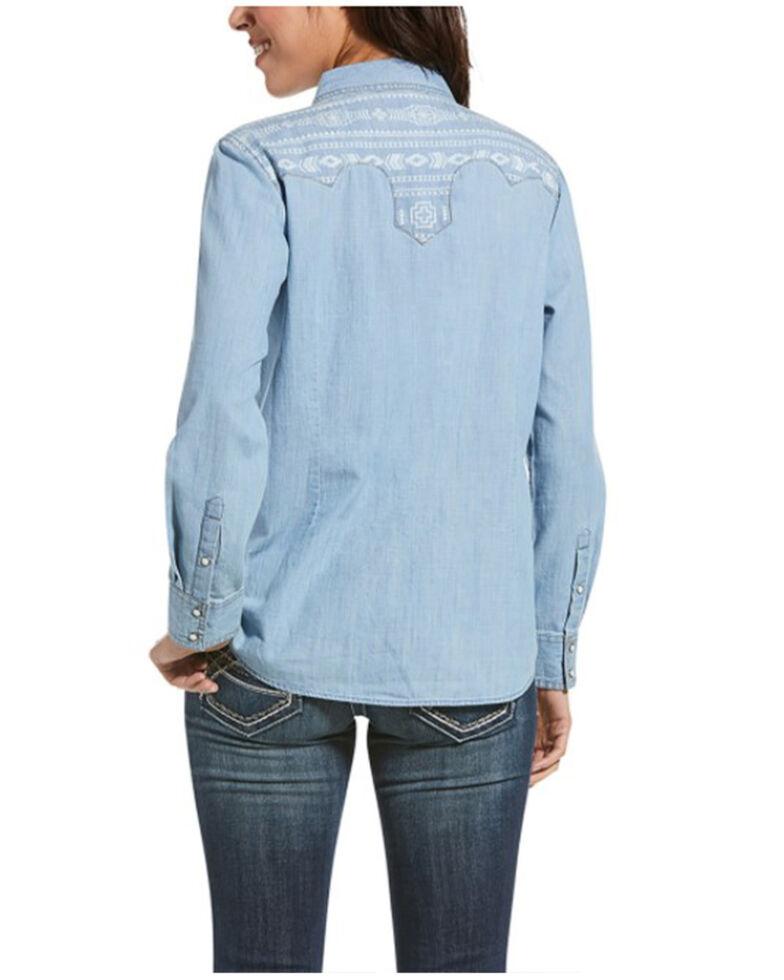 Ariat Women's Indigo R.E.A.L. Fierce Long Sleeve Shirt, Blue, hi-res