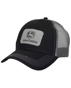 John Deere Men's Black & Grey Tactical MTO Logo Patch Mesh-Back Ball Cap , Black, hi-res