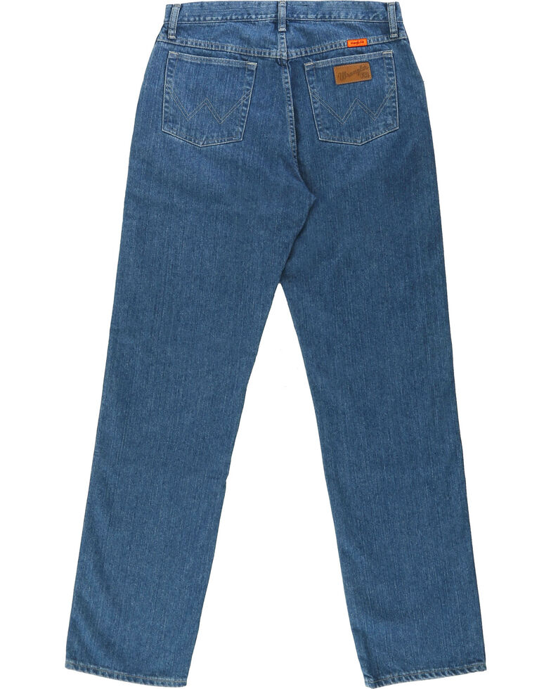 Wrangler Men's Blue FR Cool Vantage Regular Fit Jeans, Blue, hi-res