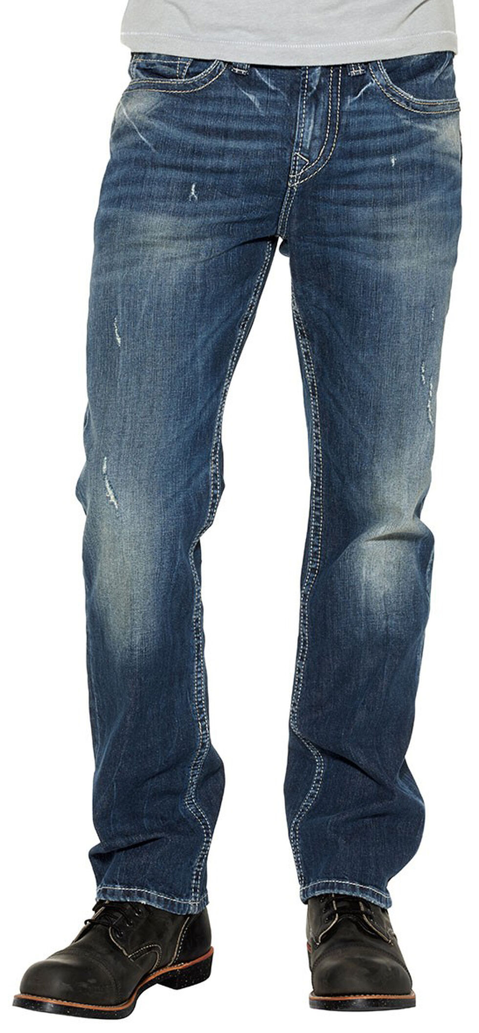 Silver Men's Grayson Easy Fit Straight Jeans, Indigo, hi-res