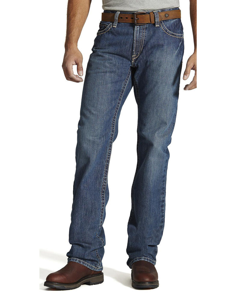 Ariat Men's Flame Resistant M4 Clay Low-Rise Bootcut Work Jeans - Tall , Bronze, hi-res