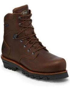 "Chippewa Men's Honcho 7"" Waterproof Work Boots - Composite Toe, Brown, hi-res"