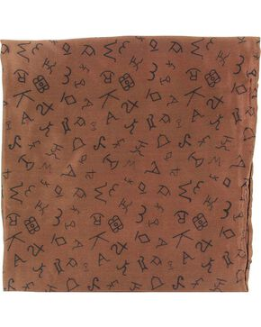 Branding Design Silk Wild Rag, Brown, hi-res