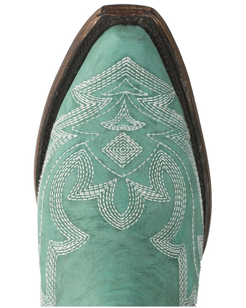 Lane Women's Saratoga Western Boots - Square Toe, Turquoise, hi-res