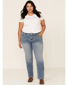 Ariat Women's R.E.A.L. Alabama Whitney Straight Jeans - Plus, Blue, hi-res