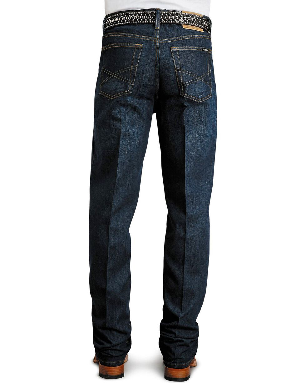 Stetson Standard Relaxed Fit Straight Leg Jeans - Big & Tall, Dark Rinse, hi-res