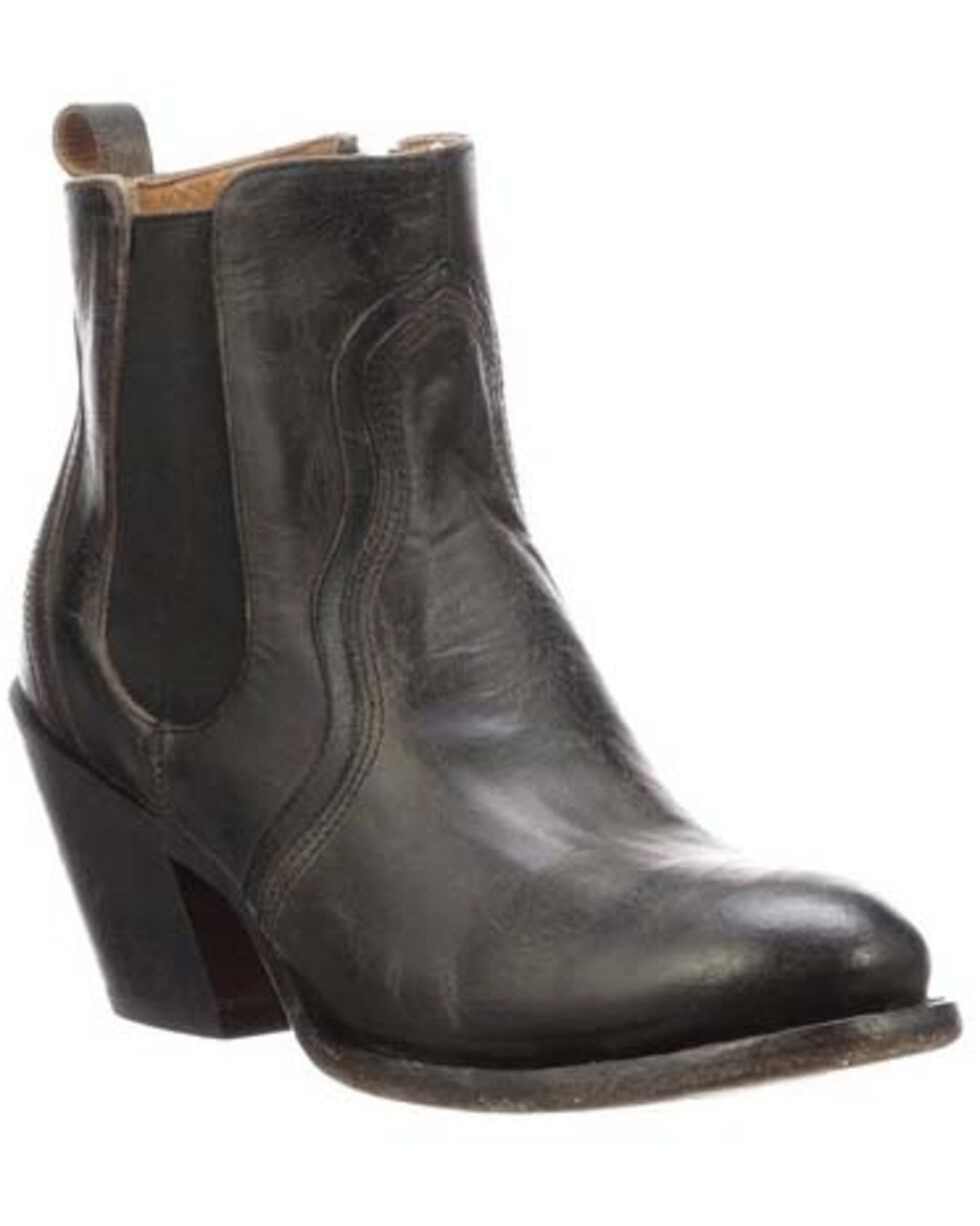 Lucchese Women's Sheila Fashion Booties - Round Toe, Black, hi-res