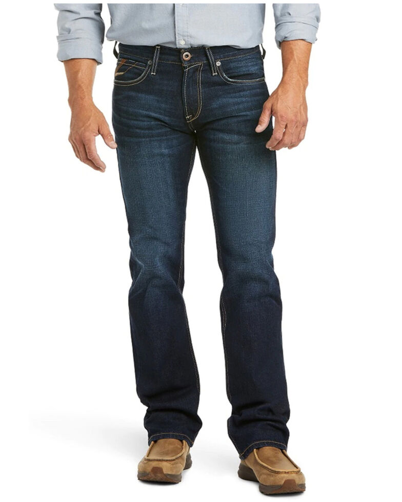Ariat Men's M7 Dodge Solano Dark Stackable Slim Straight Leg Jeans , Blue, hi-res