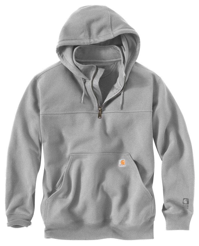 Carhartt Men's Rain Defender Paxton Hooded Zip Mock Work Sweatshirt, Hthr Grey, hi-res
