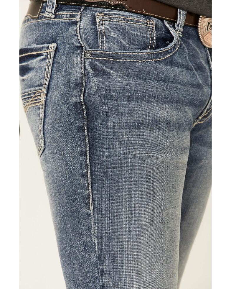 Rock & Roll Denim Men's Light Revolver Stretch Slim Straight Jeans , Blue, hi-res