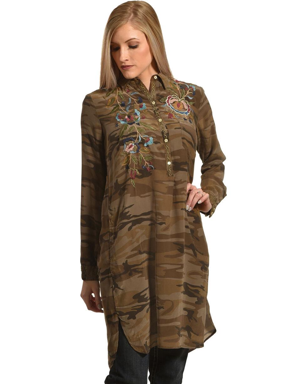 Johnny Was Women's Camo Marchella Shirt Kurta , Camouflage, hi-res