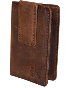 STS Ranchwear Men's Foreman's Money Clip Wallet, Brown, hi-res