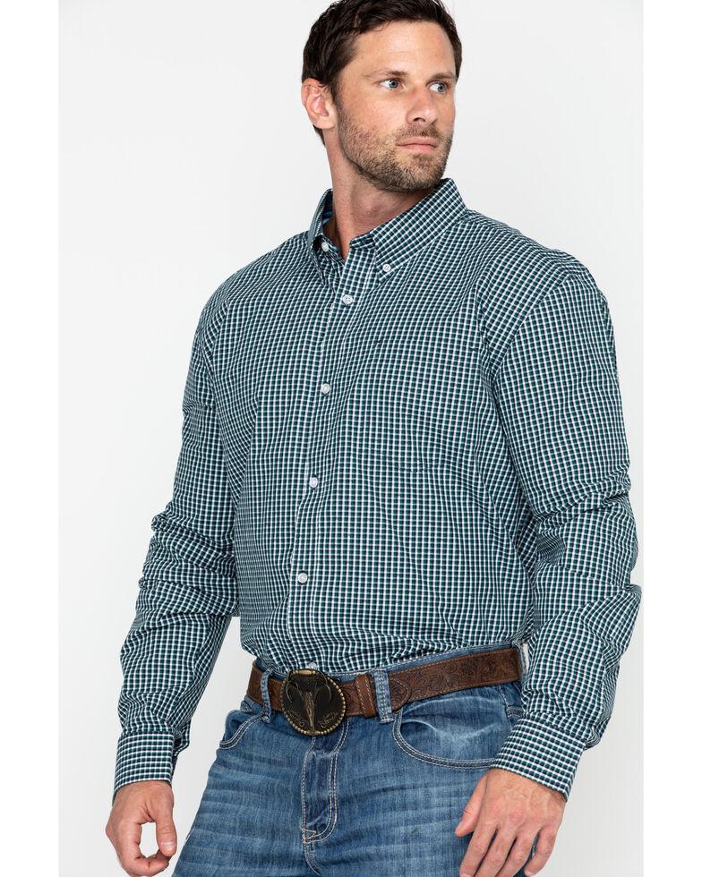 Cody James Core Men's Muldoon Small Check Plaid Long Sleeve Western Shirt - Tall , Navy, hi-res