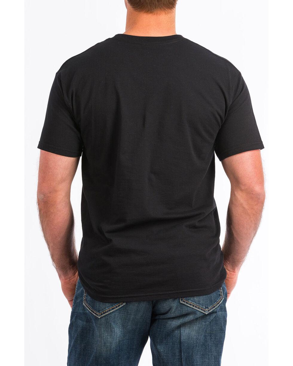 Cinch Men's Americana Logo Graphic T-Shirt , Black, hi-res