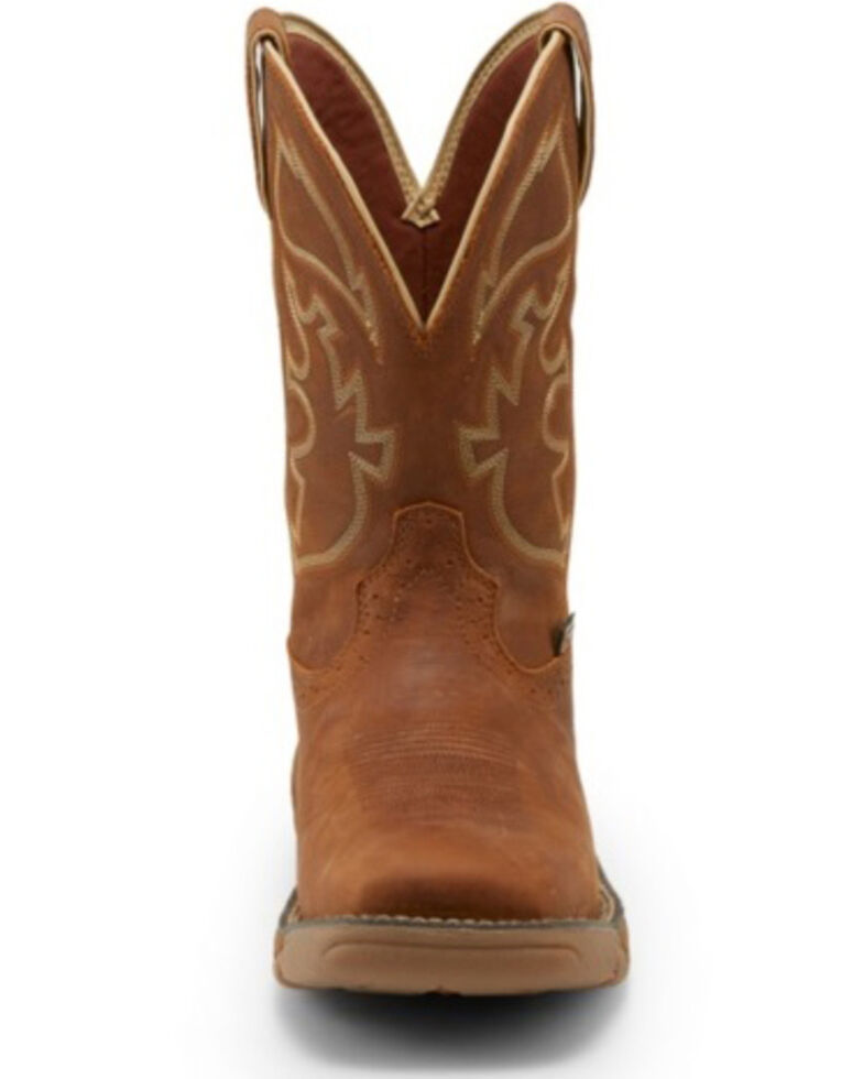 Justin Men's Stampede Rush Western Work Boots - Soft Toe, Brown, hi-res