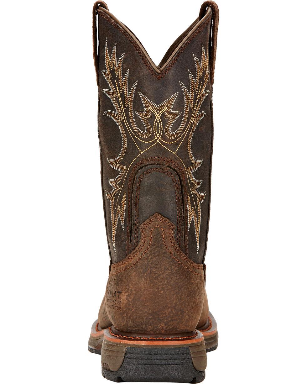 Ariat Workhog H2O Western Boots - Composite Toe, Brown, hi-res