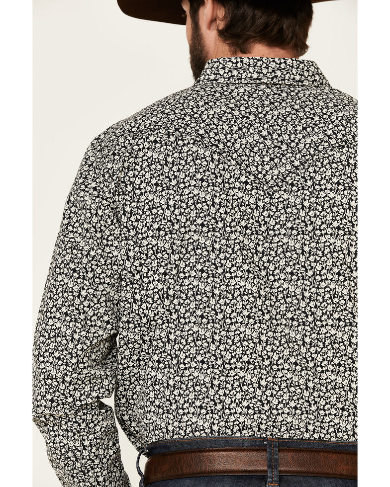 Cody James Men's Alyssum Floral Print Long Sleeve Snap Western Shirt , Black, hi-res