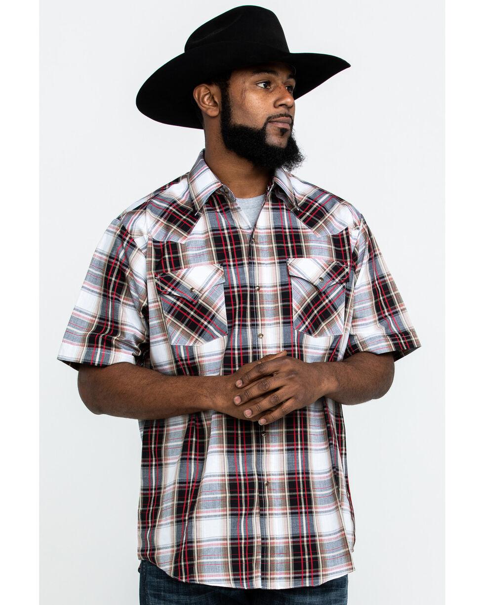 Ely Cattleman Men's Assorted Multi Plaid Short Sleeve Western Shirt , Multi, hi-res