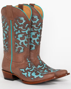 39029be4dfb Shyanne Women s Ornate Overlay Western Boots - Snip Toe