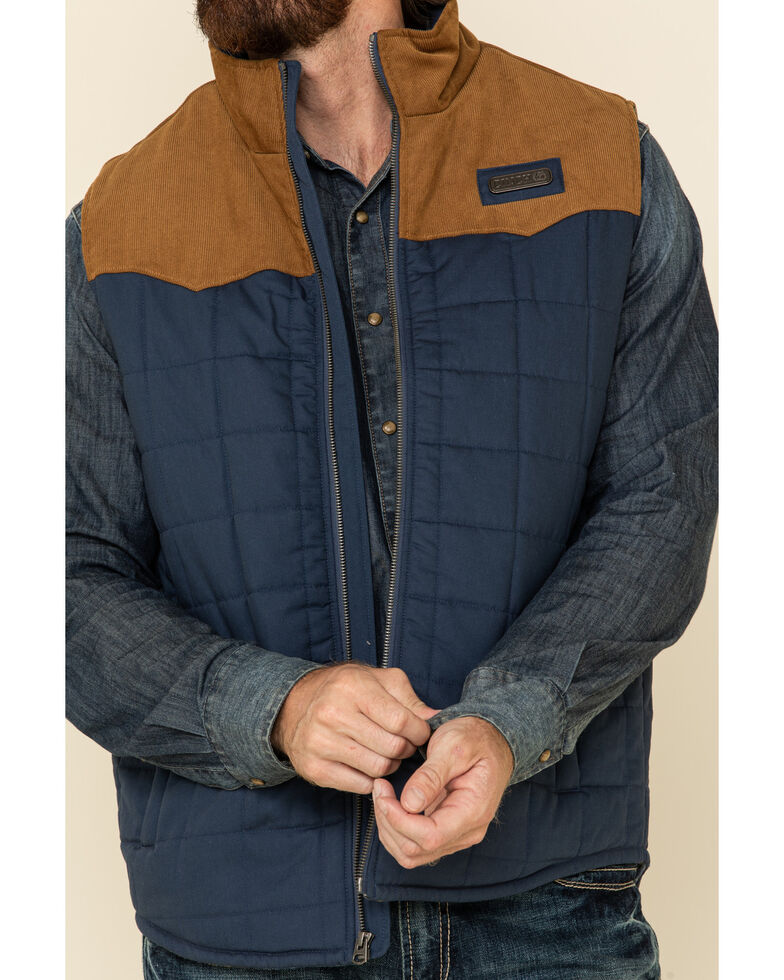 Cinch Men's Blue Quilted Polyfill Puffer Vest , Blue, hi-res